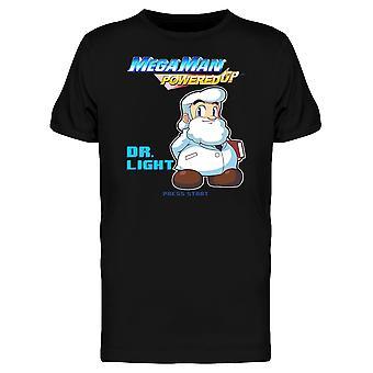 Mega Man Powered Up Dr. Licht Videospiel Grafik Herren T-shirt
