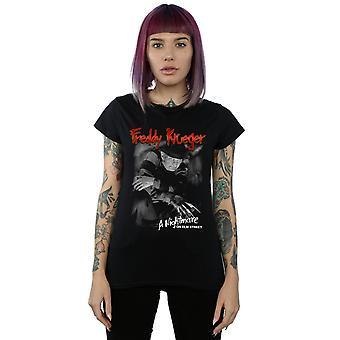 A Nightmare on Elm Street Women's Freddy zwart-wit foto T-shirt