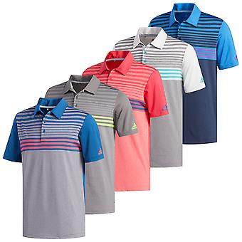 adidas Golf Hombres Ultimate365 3-Stripes Heather Polo Camisa