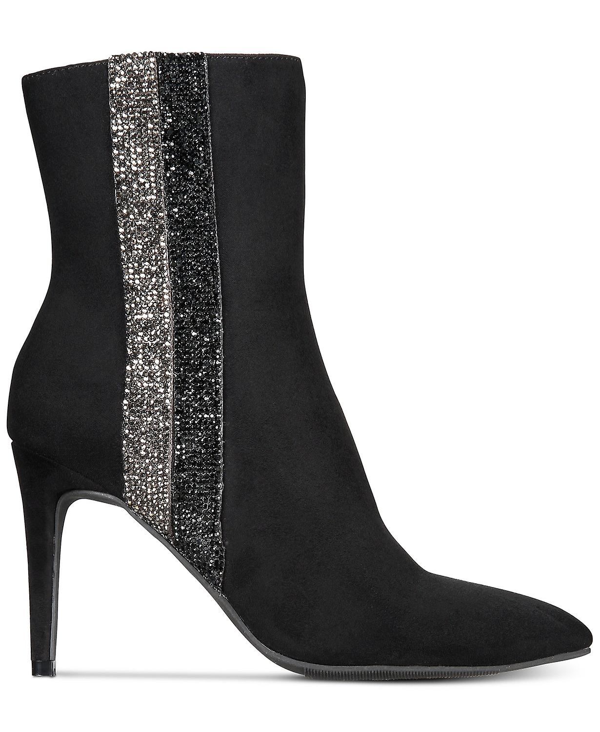 Material Girl Womens Phebe Fabric Pointed Toe Ankle Fashion Boots