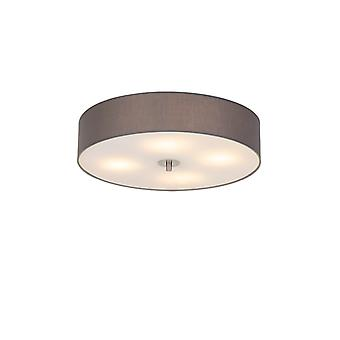 QAZQA Country ceiling lamp gray 50 cm - Drum