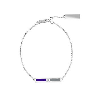 Colorado Rockies Sterling Silber Diamant Kette Armband In lila und grau