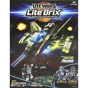 Lite Wars Lite Brix - Scorcher's Battle Jet Vs. Fire Phantom
