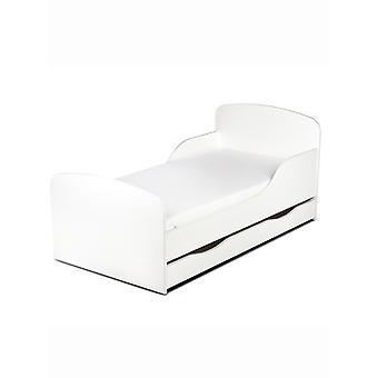 PriceRightHome Plain White peuter bed met ONDERBED opslag