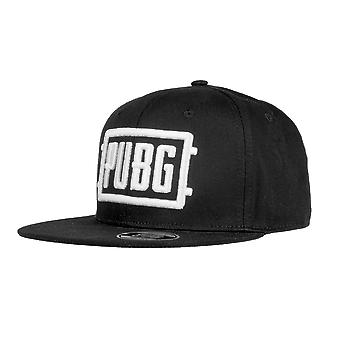 Player Unknown's Battlegrounds Snapback Cap Logo Black/White, made of 100% cotton, size adjustable.