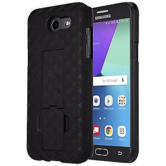 Verizon Kickstand Shell/Holster Combo para Samsung Galaxy J3 Eclipse/Mission