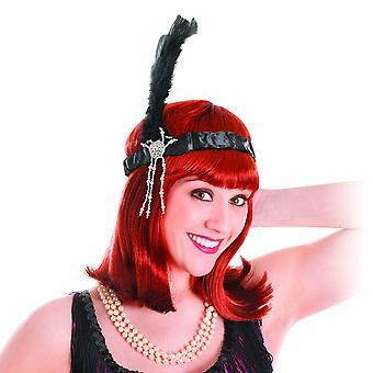 Bristol Novelty Unisex Adults Feathered Flapper Headband