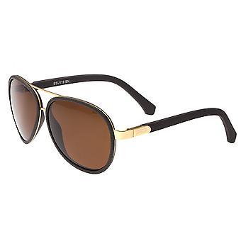 Förenkla Stanford polariserade solglasögon - guld/brun