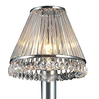 Diyas Crystal Clip-On Shade With Clear Glass Rods Polished Chrome/Crystal