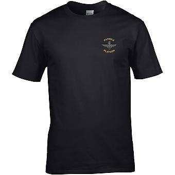 Faldskærm regiment patruljer Platoon-licenseret britisk hær broderet Premium T-shirt