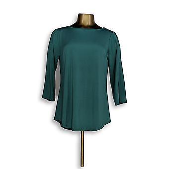 Joan Rivers Classics collectie vrouwen ' s top koude schouder groen A299415