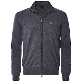 Armani Virgin Wool Zip-Through Cardigan