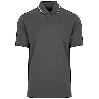 Z Zegna Grey Short Sleeved Polo Shirt
