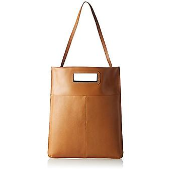 Royal RepubliQ New Courier Flat Caviar - Women's Braun Tote Bags (Natural) 4x43x35 cm (B x H T)
