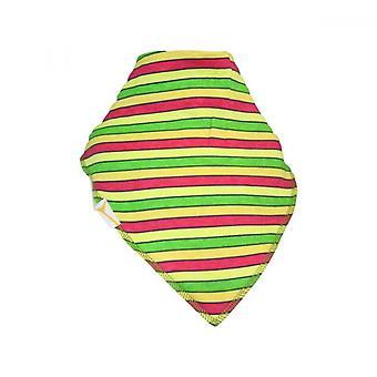Rosa, grön & gula ränder xxl bandana bib