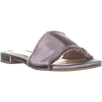 Chinese Laundry Womens Summer Nud Satin Open Toe Casual Slide Sandals