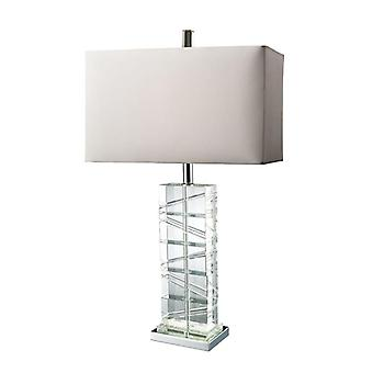 Avalon table lamp in clear crystal and chrome - led