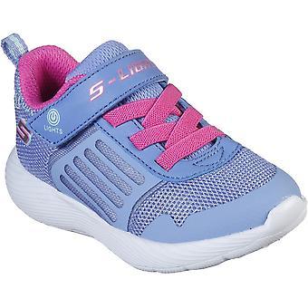 Skechers Girls Dyna-Lights sporty lys opp trenere sko