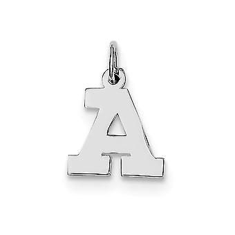 925 sterling sølv solid polert liten blokk intial en sjarm anheng halskjede smykker gaver til kvinner