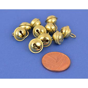 10 Gold 9mm Cat Bell Style Jingle Bells for Crafts