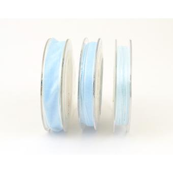 10m Baby Blue 7mm Wide Organza Craft Ribbon | Ribbons & Bows for Crafts