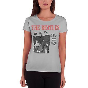 Les Beatles S'il vous plaît S'il vous plaît Me officiel FemmeS New Grey skinny fit T Shirt