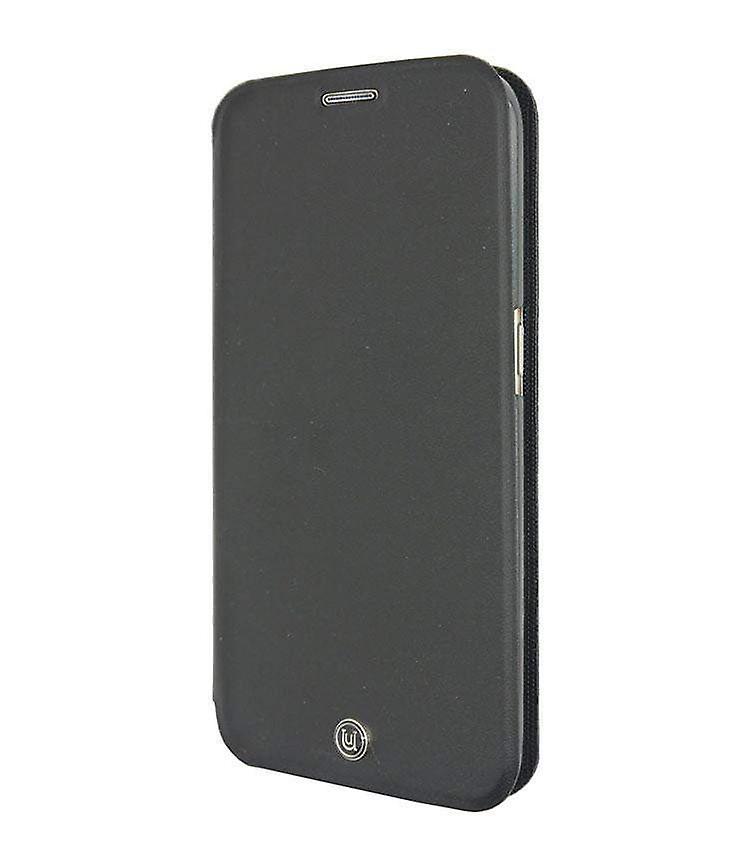 Samsung Galaxy S6 Edge Case Black PU Leather Folio