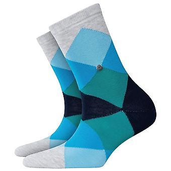 Burlington Bonnie Socks - Grey/Blue/Green