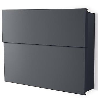 RADIUS letterbox Letterman XXL 2 anthracite grey RAL 7016 with concealed compartment of newspaper