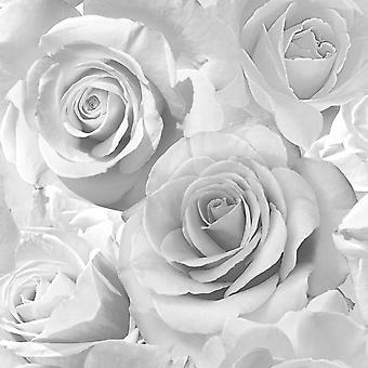 Madison Rose Glitter Floral Wallpaper Muriva