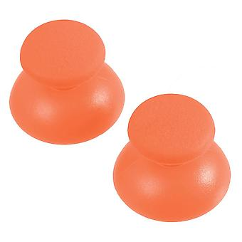 Replacement analog rubber convex thumbsticks for sony ps3 controllers - 2 pack orange