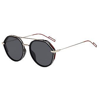 نظارات شمسيه ديور أوم Dior0219S 2M2/2K اسود-ذهبي/رمادي