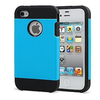 Iphone 4 4S Tough Armor Cover Case Blue