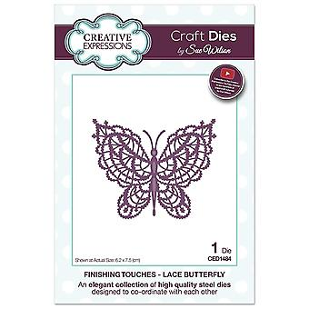 Sue Wilson Finishing Touches Collection Lace Butterfly Die, 0.02 x 0.02 x 0.02 cm