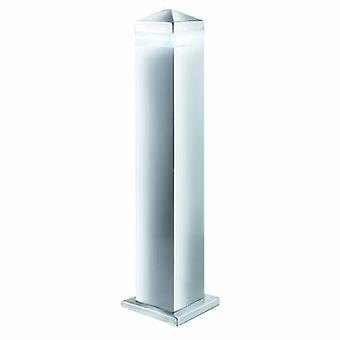 LED 16 Light Square utomhus pollare post Light satin silver, rostfrittstål Ip44