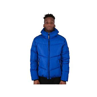 Marshall Artist Paninaro Puffa Jacket In Royal Blue