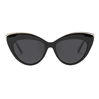 Le specs kaunis muukalainen musta polarisoitunut kissa silmän aurinko lasit