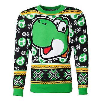 Nintendo Super Mario Bros Yoshi Knitted Christmas Sweater Unisex XX-Large