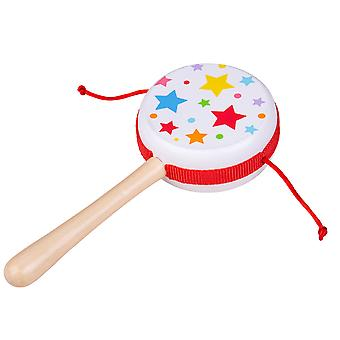 Bigjigs Toys Twist Drum - Rattle Musical Instrument Toy for Kids