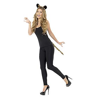 Kobiety Tiger Uszy i Ogon Fancy Dress Costume Akcesoria Kit