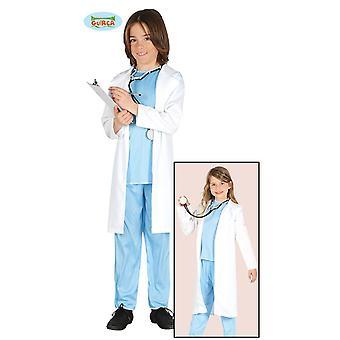 Guirca læge kostume med hvid pels medicinsk børn kids kostume kirurg kjoler
