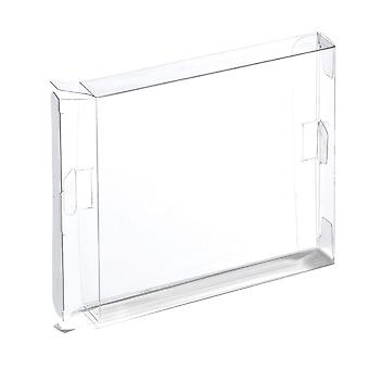 Zedlabz plastic display box for nintendo snes games - 2 pack clear