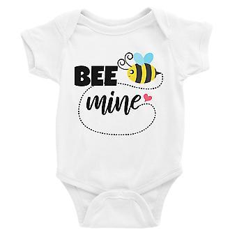 Bee Mine White Baby Body Cute Baby Shower Prezent Dla Niemowląt Kombinezon