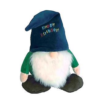 "Petlou Plush 13"" Gnome (Happy Birthday) Dog Toy"