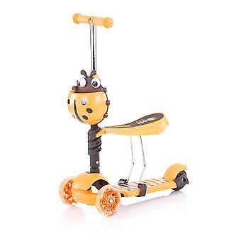 Chipolino Kinderroller, Rutscher Kiddy 2 in 1 Höhe einstellbar 3 Räder mit Licht