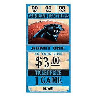 Wincraft NFL Wooden Sign TICKET Carolina Panthers 30x15cm
