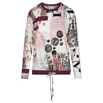 Féraud 3191113-11777 Naiset's Rento Tyylikäs Valkoinen Monivärinen Loungewear Top
