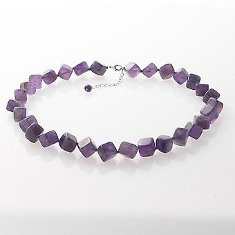 Amethyst Square Necklace