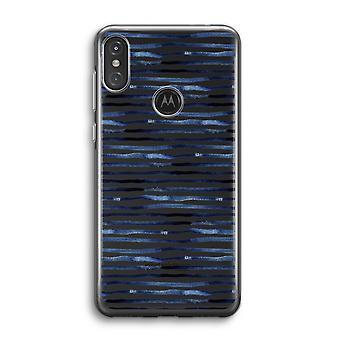 Motorola Moto One Power (P30 Note) Transparent Case (Soft) - Lignes surprenantes