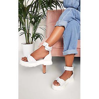 IKRUSH Womens Nova Double Buckle Sport Chunky Sandals